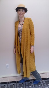 2014-11-24 Mustard Knit Duster