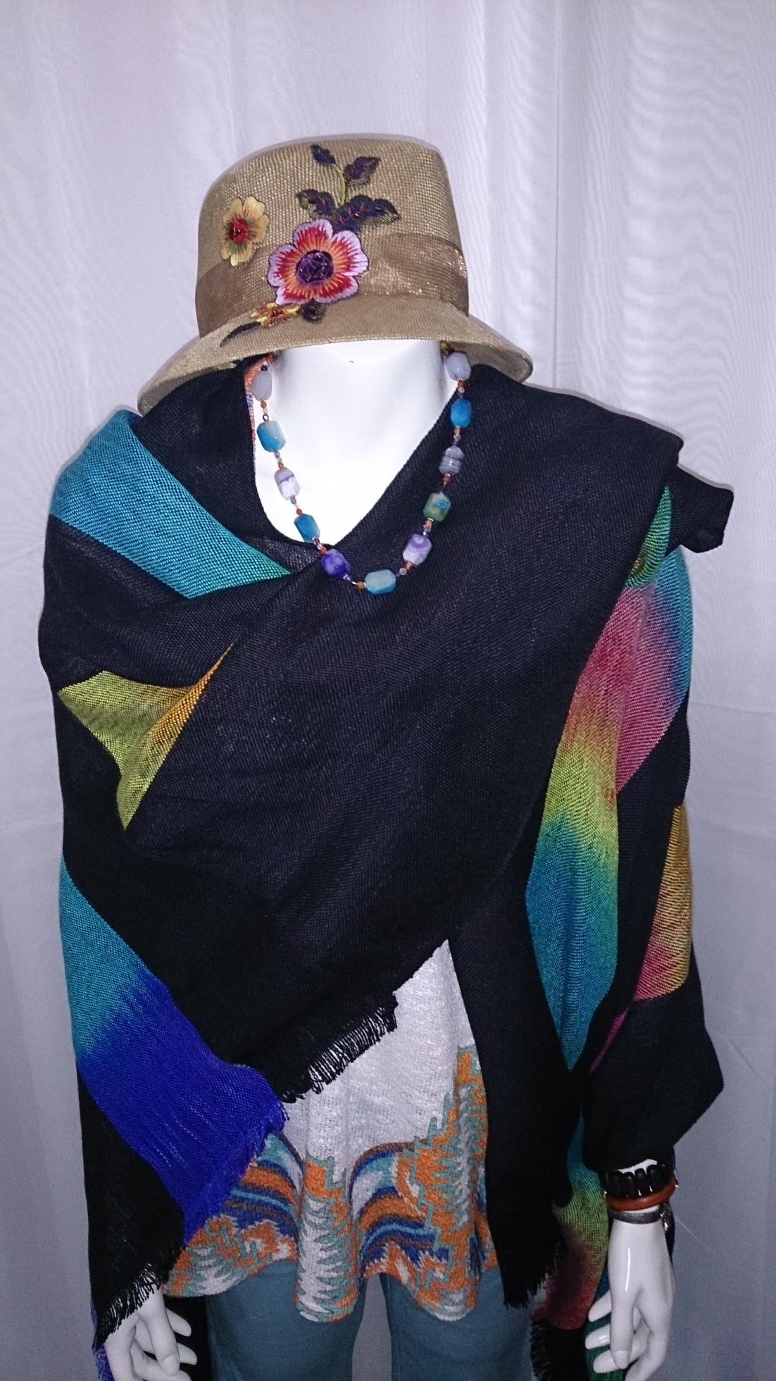 2015-06-02 EE Rainbow Casual Top CE Necklace