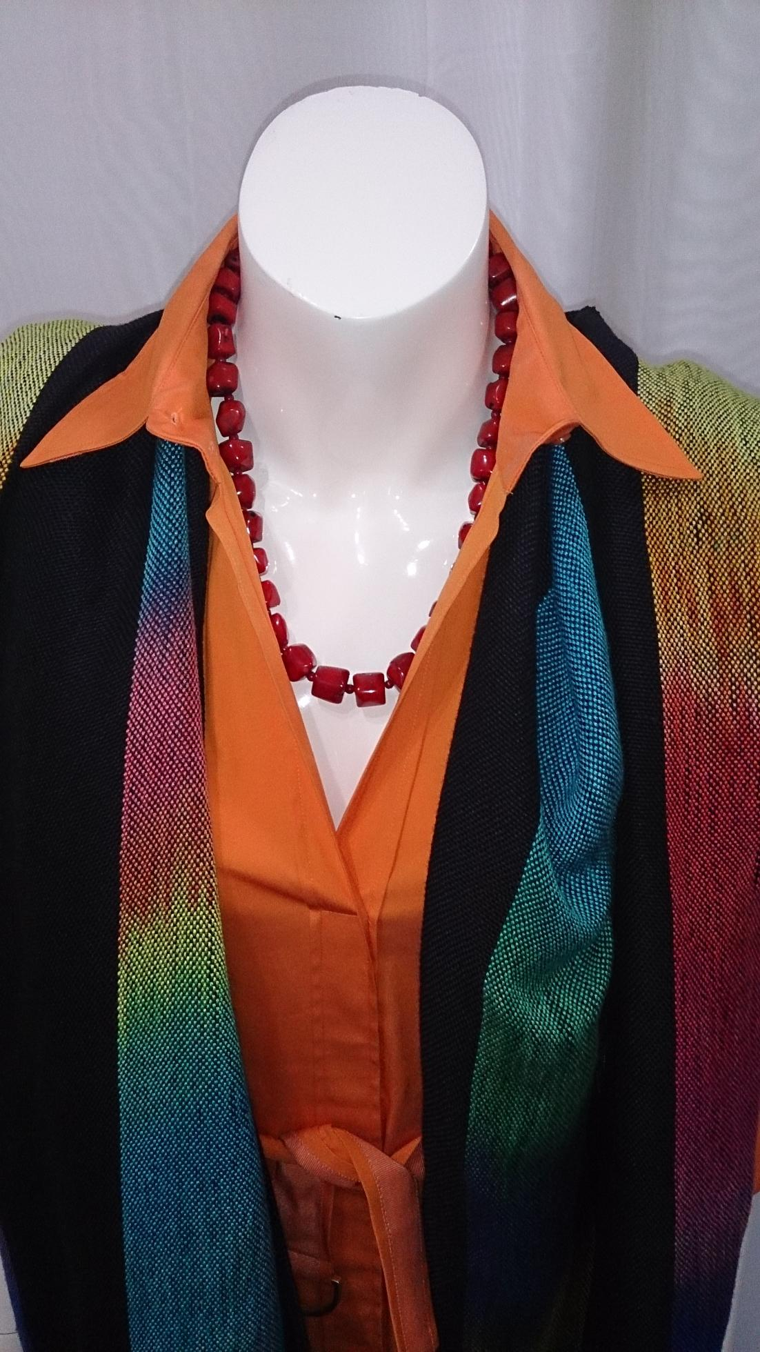 2015-06-02 EE Rainbow Orange Dress CE Necklace